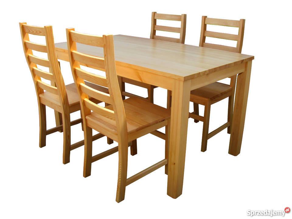 Stół I 6 Krzeseł Do Kuchni Sosnowe Lite Drewniane Producent