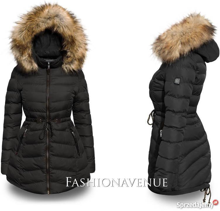 damska zimowa kurtka czarna