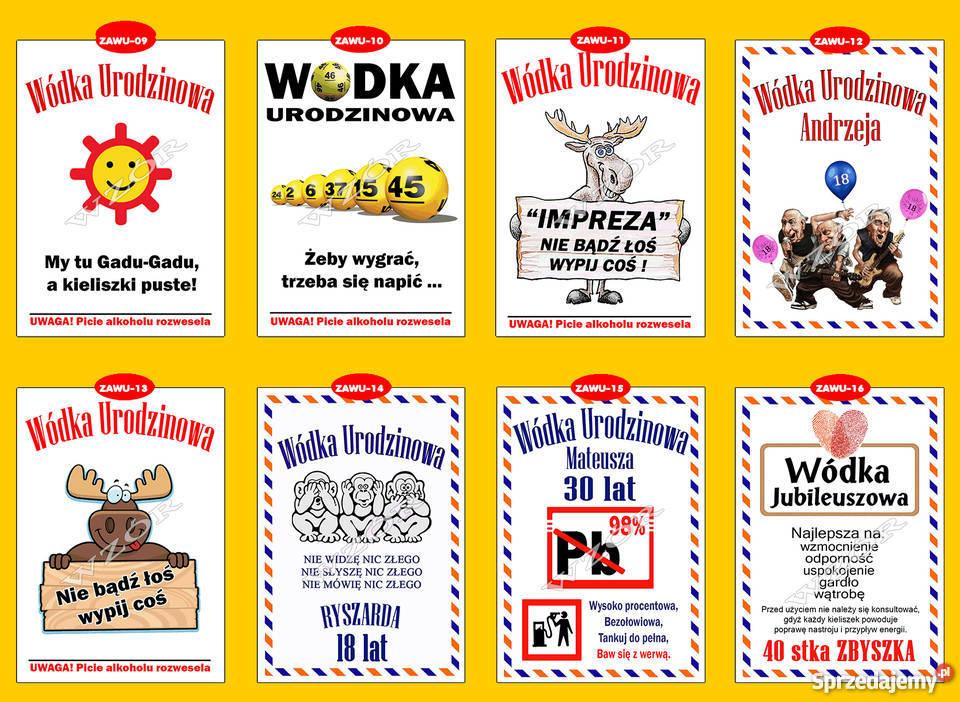Zaproszenia Urodziny 18 30 40 50 Koperty Dąbrowa Górnicza