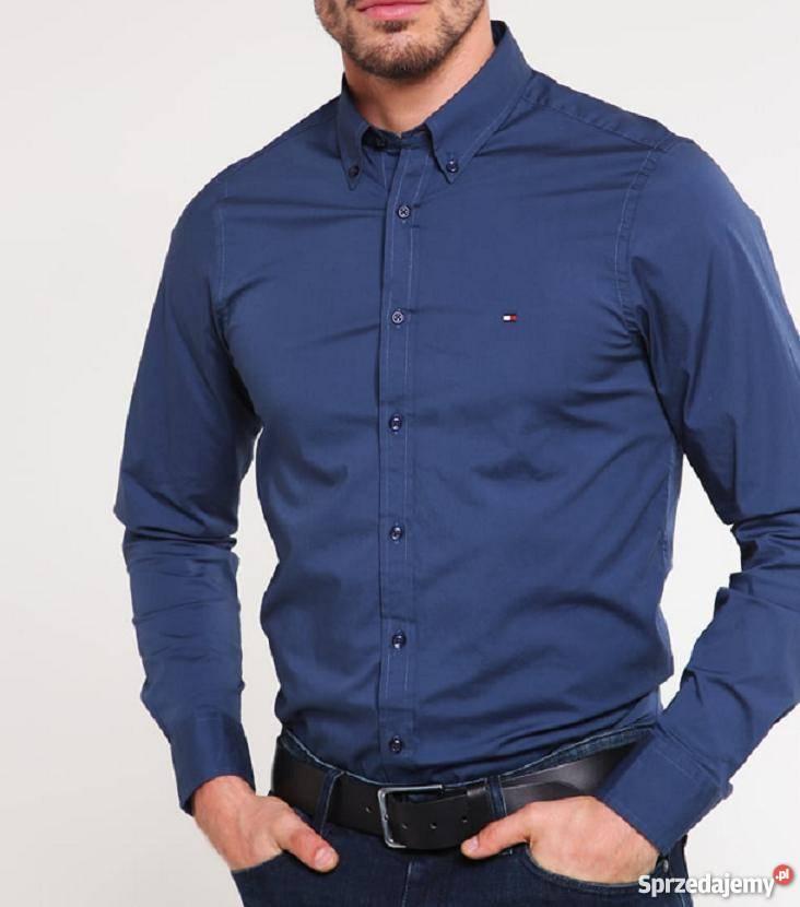 03c69f4b382d8 Koszula męska Tommy Hilfiger niebieska slim XL Rozmiar XL mazowieckie  Warszawa sprzedam