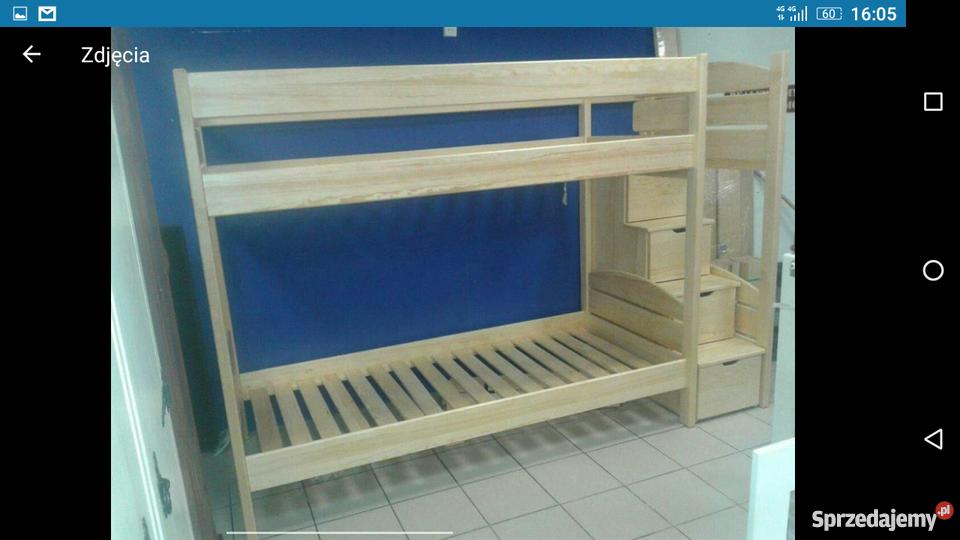 łóżko Piętrowe 90x200 Ze Schodami Dla Dzieci