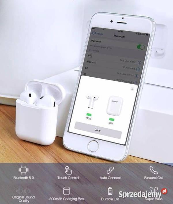 i20 tws nowe słuchawki dotykowe bezprzewodowe bluetooth 5.0