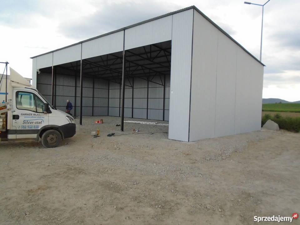 garaż blaszany wiata 16x8 garaże blaszane wiaty