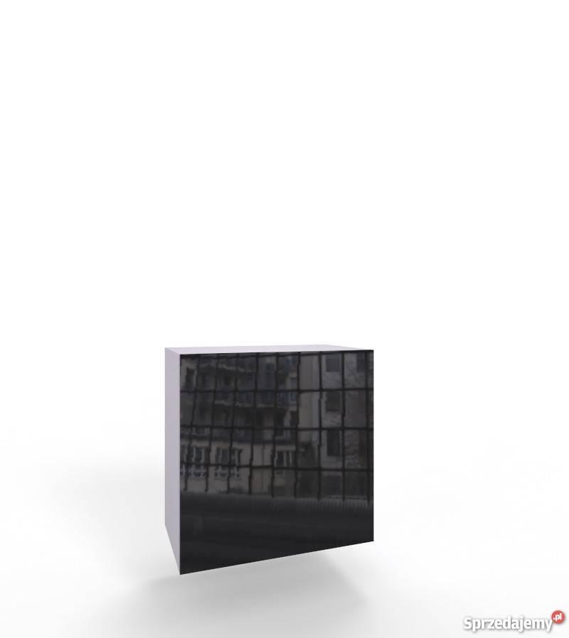 VIGO KWADRAT - biała czarna szafka wisząca