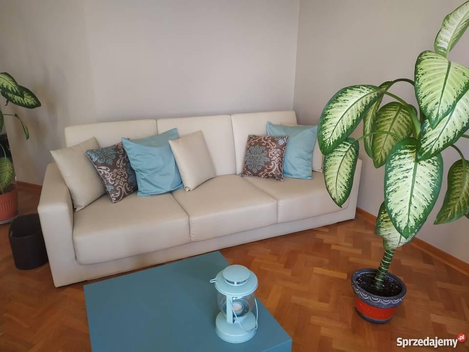 PILNIE SPRZEDAM Komplet duża skórzana sofa poduszki 2 fotele