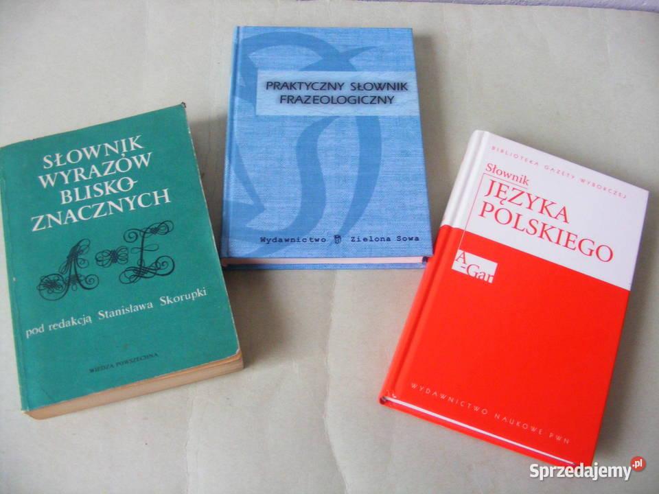 Słownik języka polskiego Słownik wyrazów bliskoznacznych