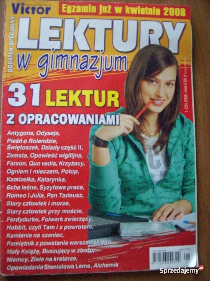 Opracowania lektur z gimnazjum i liceum Lektury