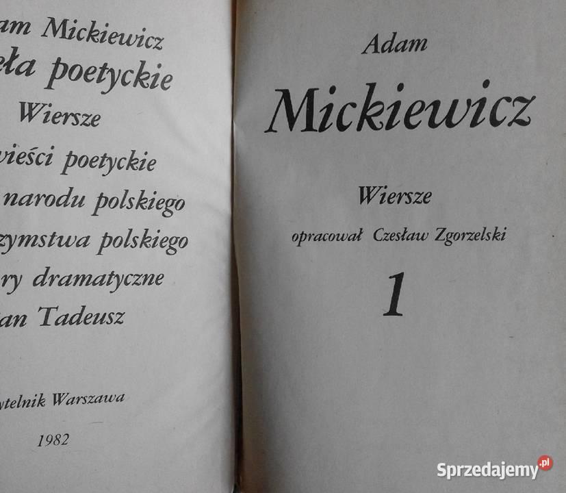 Wiersze Wszystkie Adam Mickiewicz
