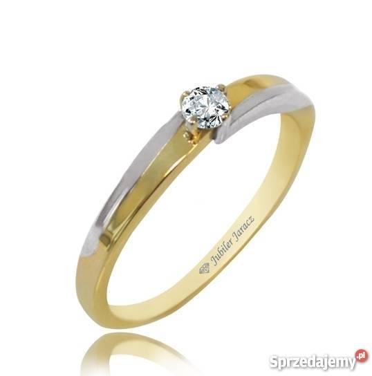 Pierścionek Zaręczynowy Z Diamentem Złoto P 0585 Rzeszów