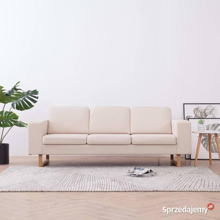 vidaXL Sofa 3-osobowa, tapicerowana tkaniną, 281382