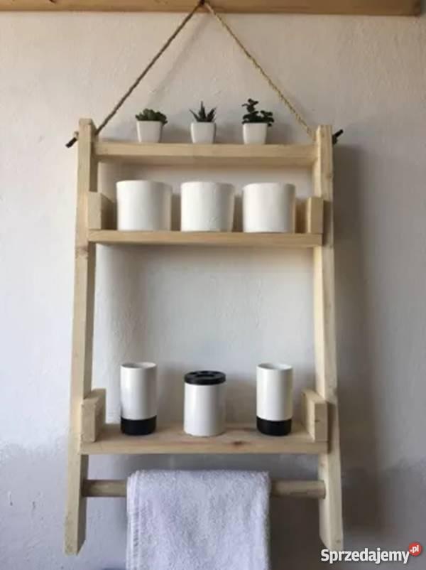 Półka Do łazienki Kuchni Handmade Drewno