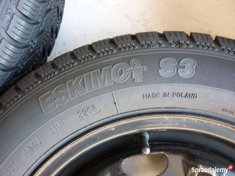 Opony zimowe 16570R14 2x 7,5mm 2x 6,2mm Sava Eskimo i inne