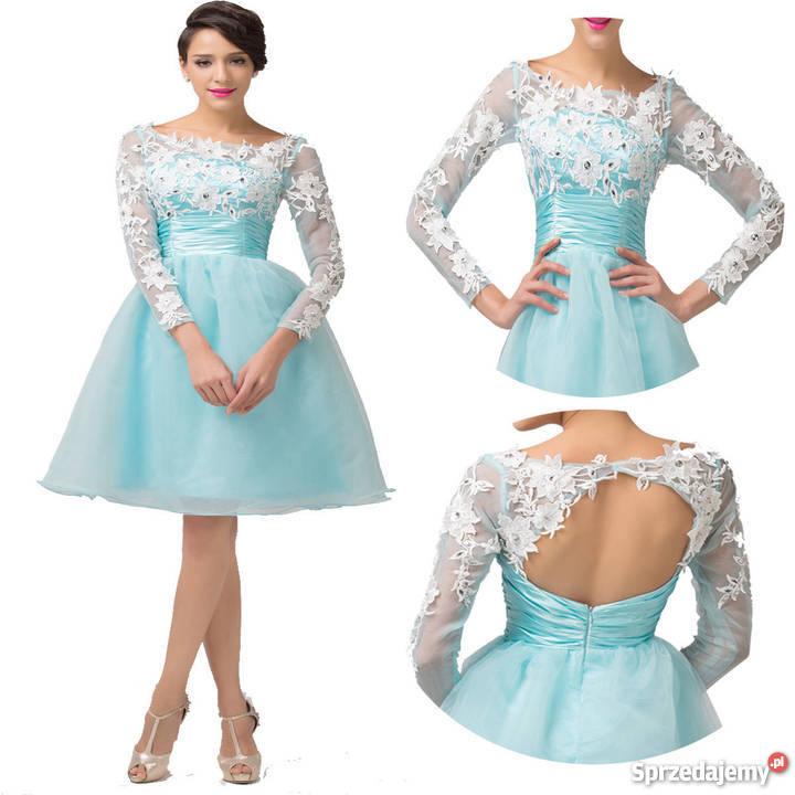 6d1b4155ab SUKIENKA BLEKITNA NA SYLWESTRA WESELE niebieski Spódnice i sukienki Chorzów  sprzedam