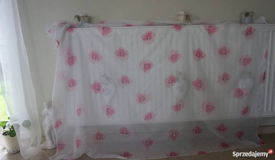Firana Firanka Pokój Dziewczynki Sypialnia Różowe Kwiaty