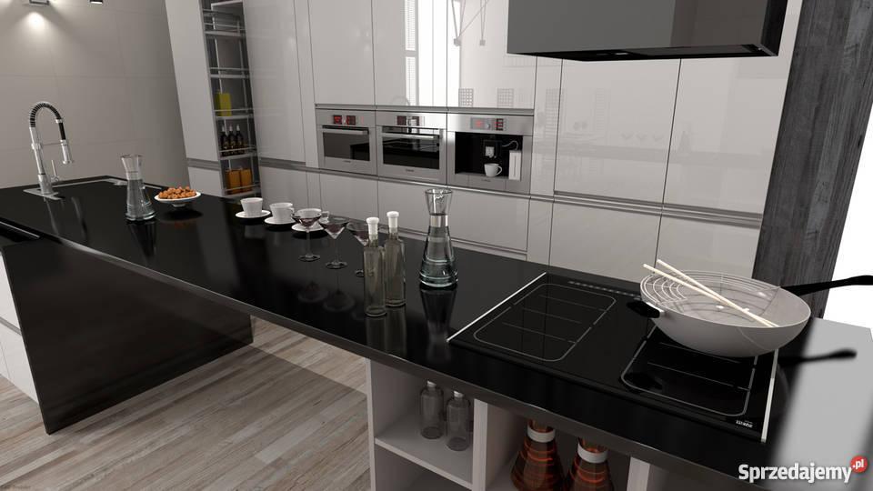 Projekt 3d Wizualizacja łazienka Kuchnia Salon Góra