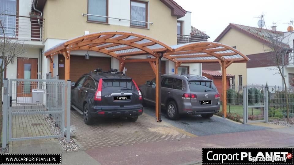 Nowoczesne wiaty garażowe wykonane z drewna Katowice