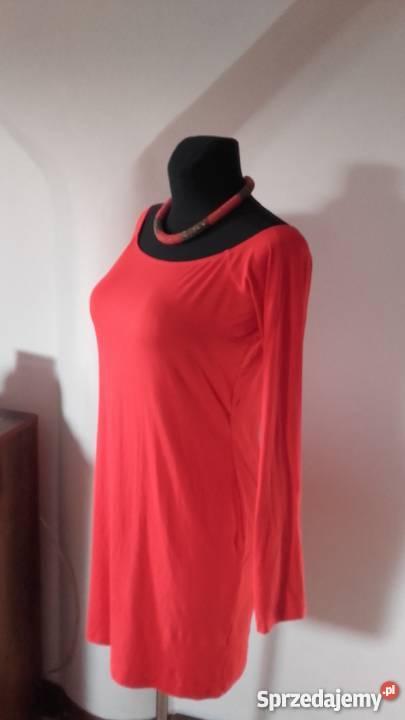 czerwona sukienka Asos długi rękaw Odzież damska Sosnowiec sprzedam
