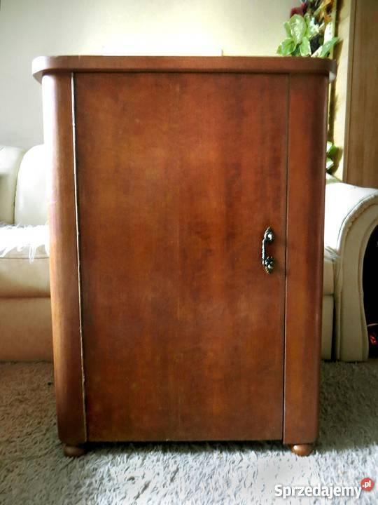 Cudowna Stara SZAFKA pod umywalkę Art Deco drewniana PRL łazienkowa VC05