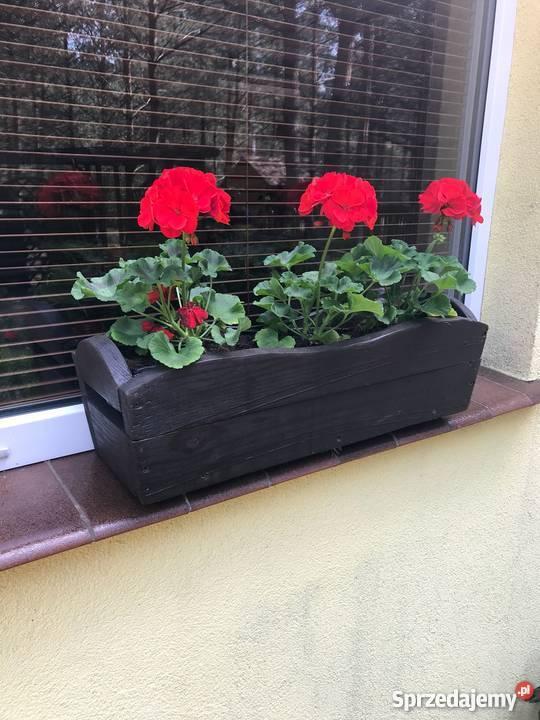 Skrzynka Na Kwiaty Drewniana Na Parapet Balkon