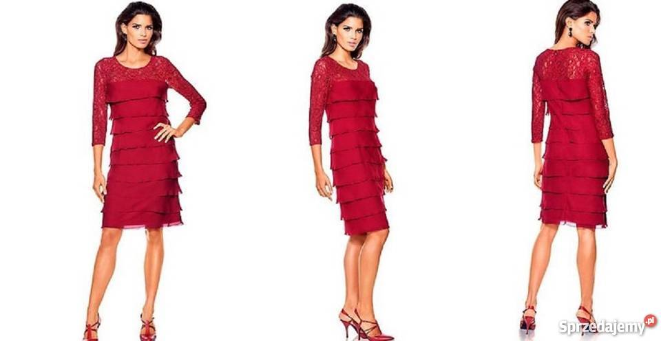 4e6eb0a47d czerwone sukienki na sylwestra - Sprzedajemy.pl