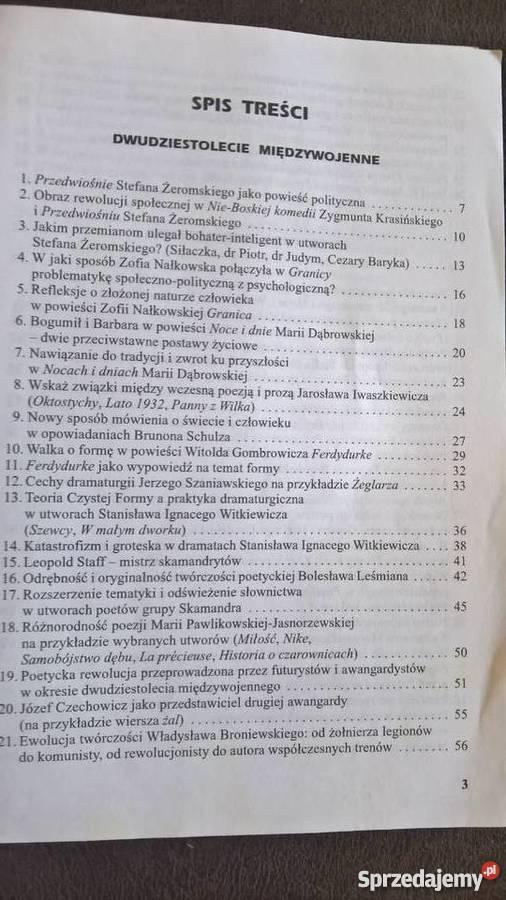 Dwudziestol miedzywojLiteratura Podręczniki dolnośląskie