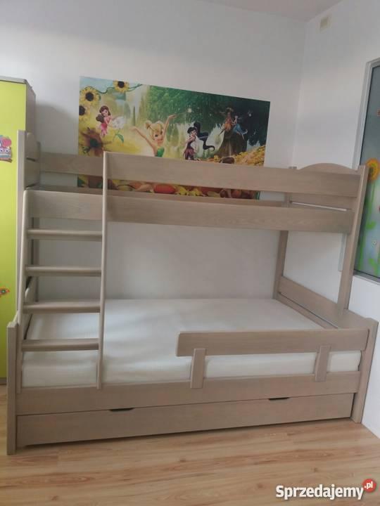łóżko Piętrowe 3 Osobowe Drewniane Na Dowolny Kolor I Wymiar