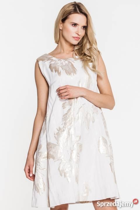 4a5e84e072 Sukienka w złote kwiaty 44XXL Paola Collection mazowieckie Warszawa
