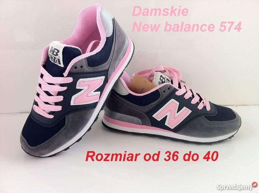 new balance damskie 574 czarno różowe