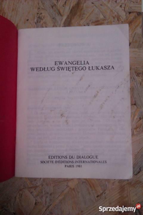 Ewangelia wefług świętego Łukasza religioznawstwo, nauki teologiczne Skokowa sprzedam