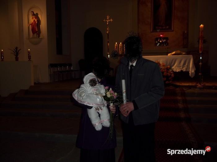 Strój do chrztu dziewczynki Pępowo