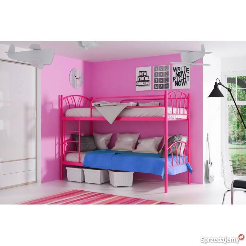 łóżko Piętrowe Metalowe Dla Dzieci Drabinka Od Marti Meble