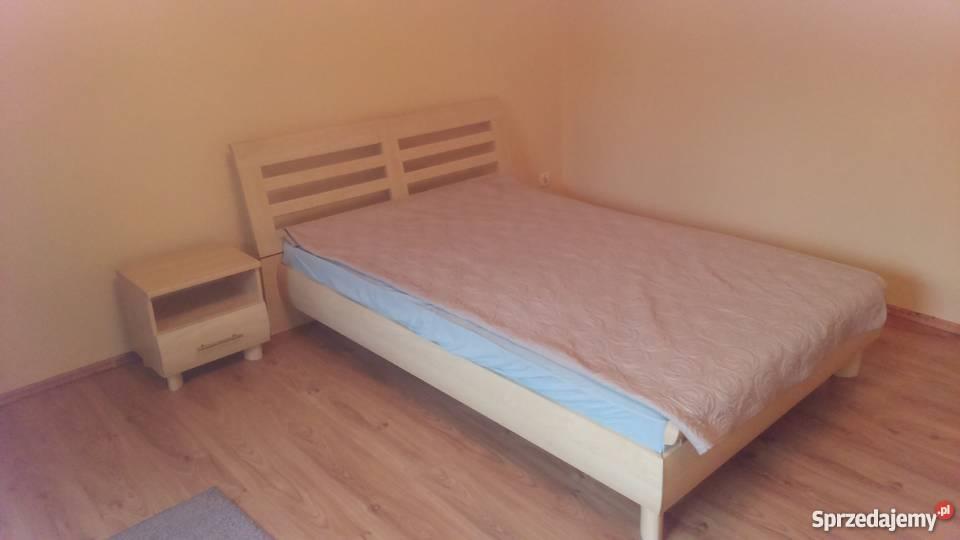 łóżko Sypialniane Brw Oraz Szafka Nocna