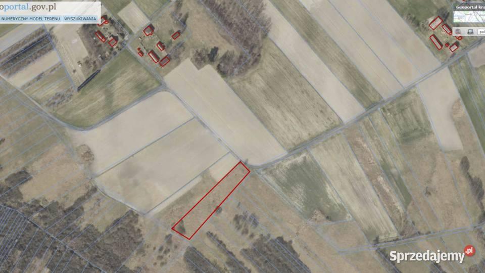 Sprzedam działkę rolną 3700 m2, przy drodze, prąd