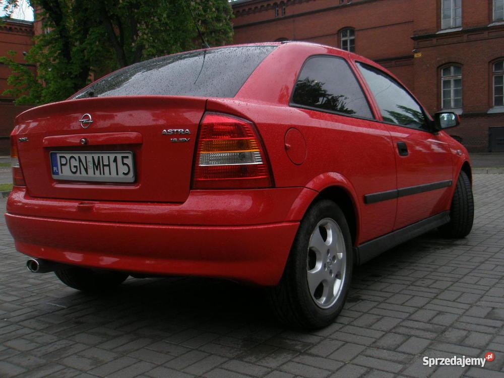 Opel Astra II 1999 16 16V Klima czerwony Gniezno