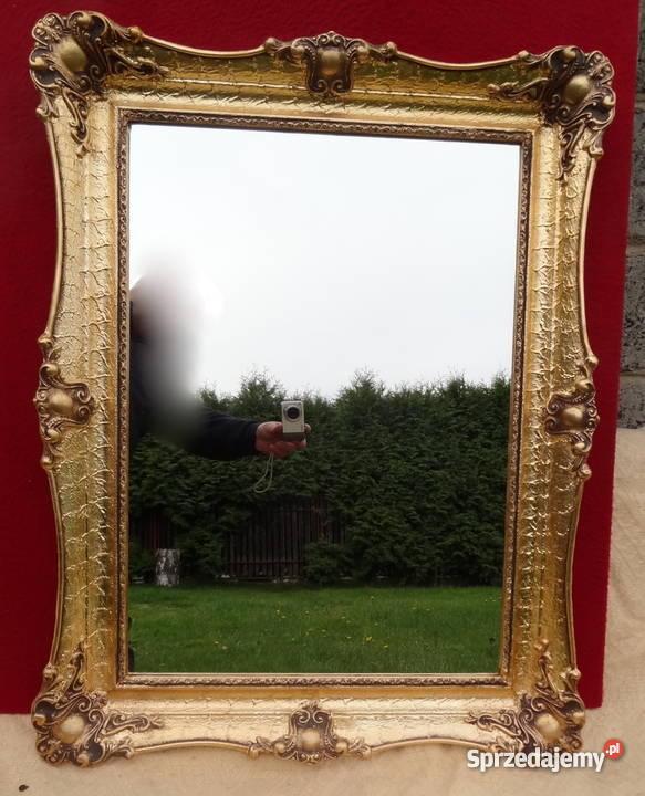 Lustro W Złotej Drewnianej Ramie Wymiar 87x67 Cm Częstochowa