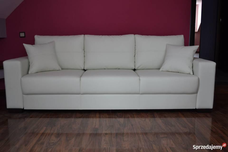 Kanapa sofa rozkładana prawdziwa skóra naturalna skóra Gniewkowo sprzedam