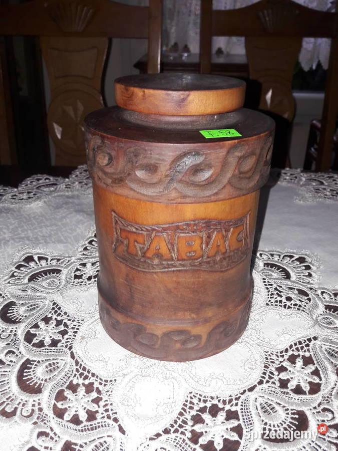Pojemnik na tytoń drewniany (F.58)