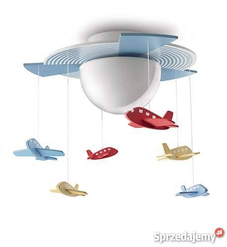 lampy sufitowe dla dzieci samoloty