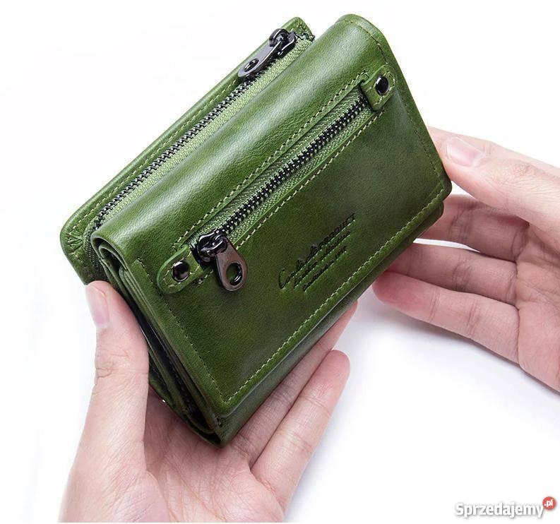 98af07c1871c5 Skórzany portfel damski ContactS skóra naturalna Dla kobiet śląskie Czeladź  sprzedam