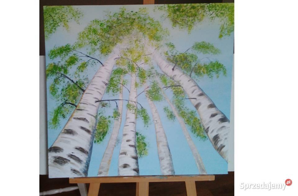 Obraz farby akrylowe na płótnie 65 x 65 cm