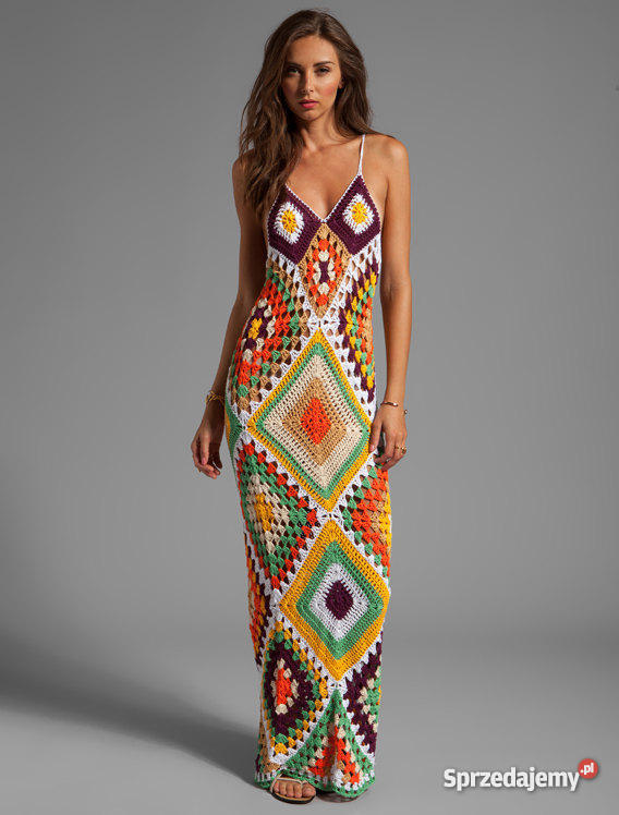 8d4d11c95 Sukienka na szydełku na lato/na plażę, handmade - Sprzedajemy.pl