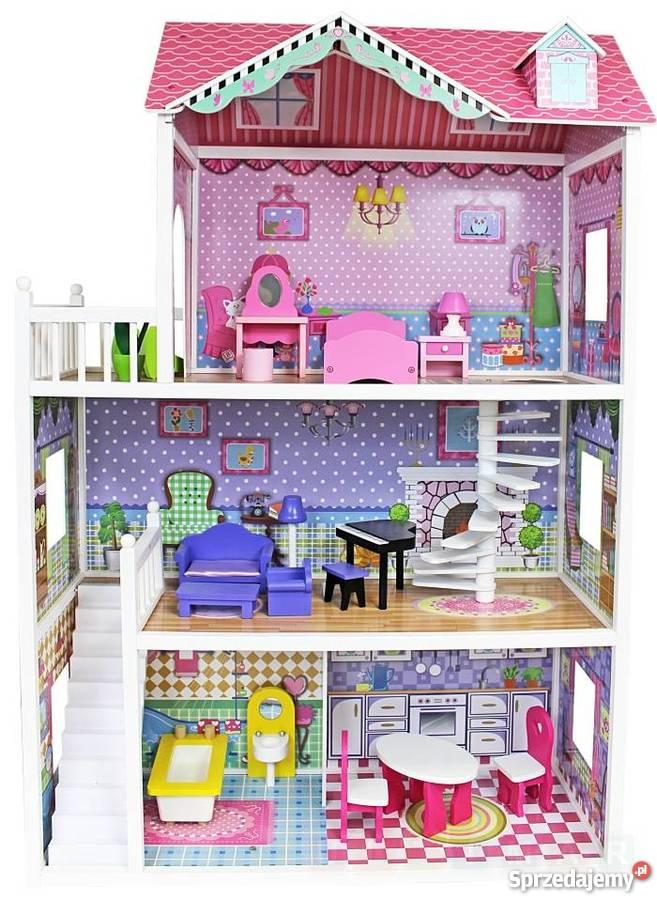 f79945ba59d9 Ogromny drewniany domek 124 cm - dla lalek Barbie Warszawa ...