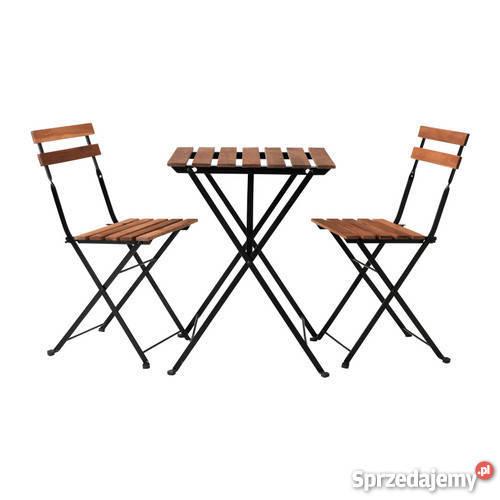Stolik 2 Krzesła Komplet Balkonowy Ogrodowy Nowy