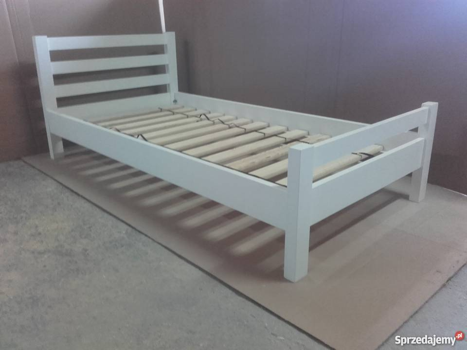 Łóżko drewniane 80x180 białe
