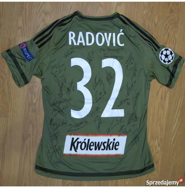 e8c4e10a4 Koszulka Radović Legia Warszawa podpisy Liga Mistrzów 16/17 ...