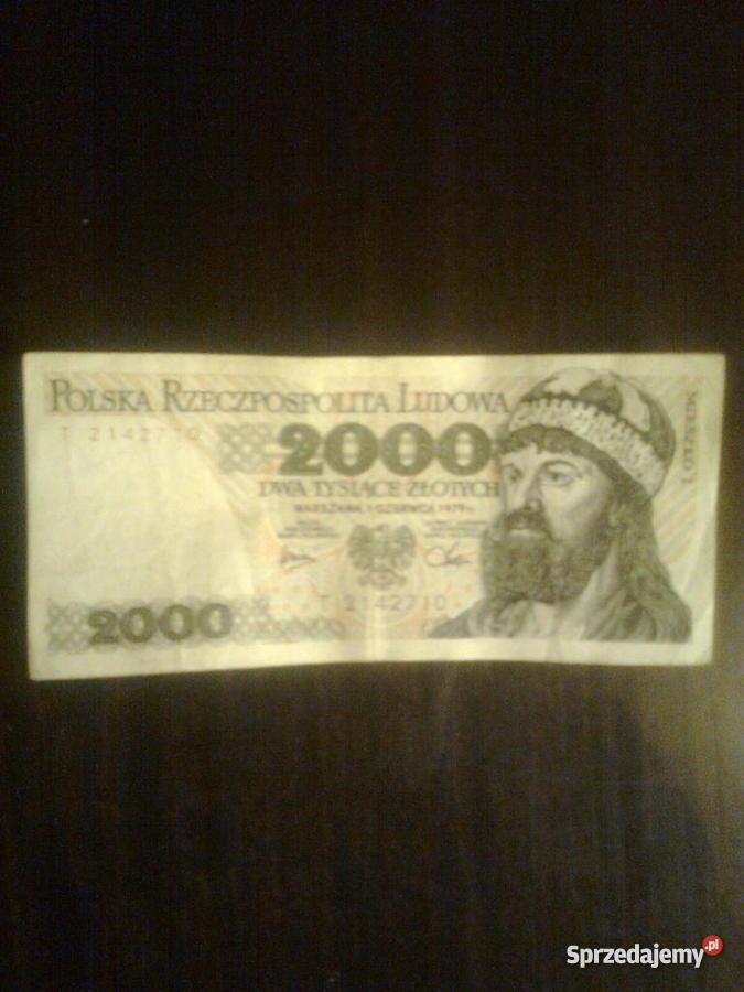 banknoty 2000 z 1979 r i 5000 z 1982 r Warszawa