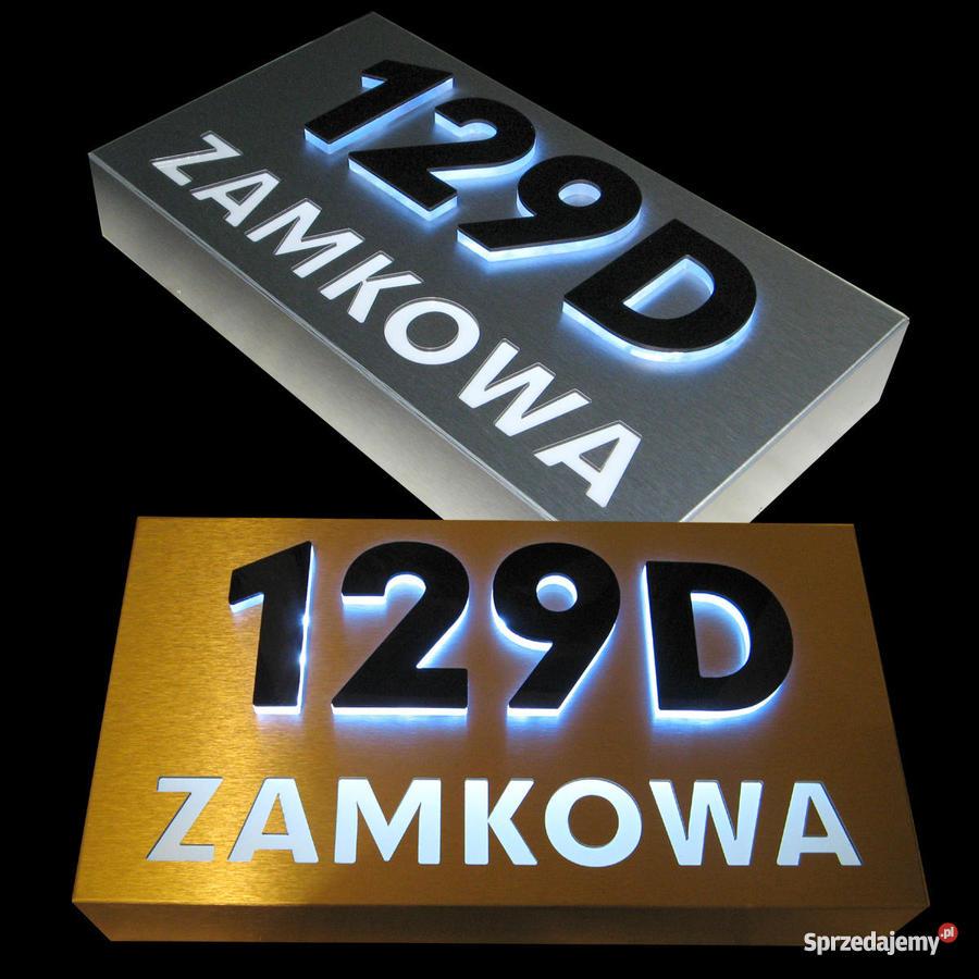 Niesamowite Podświetlany kaseton LED numer domu oznaczenie budynku UG33