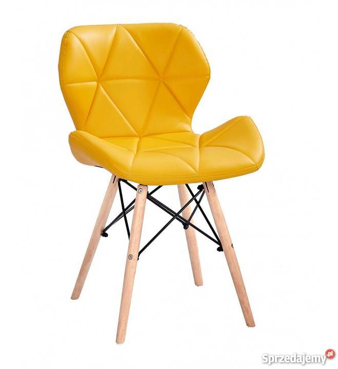 Nowoczesne pikowane krzesło Milo 8 kolorów Wrocław