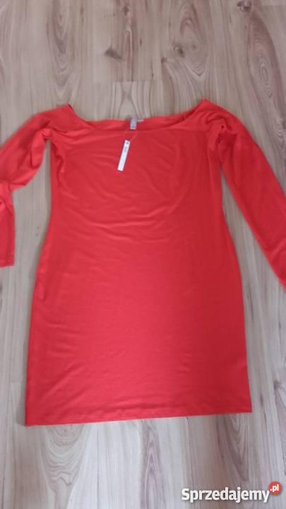 czerwona sukienka Asos długi rękaw Sosnowiec sprzedam