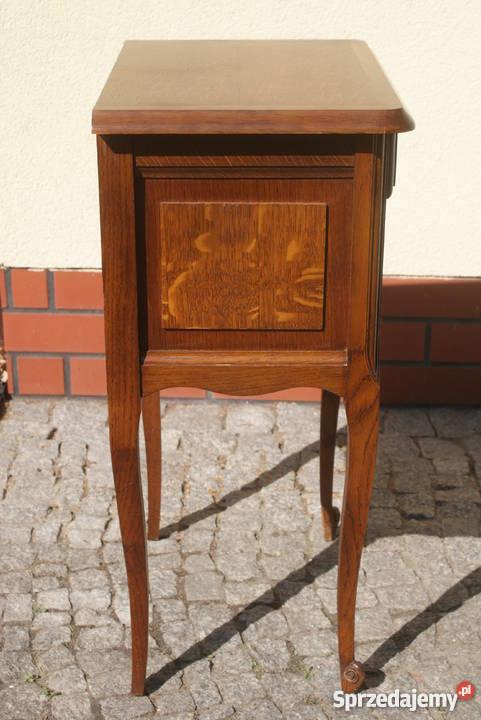 Drewniana komódka szafeczka stolik nocny styl